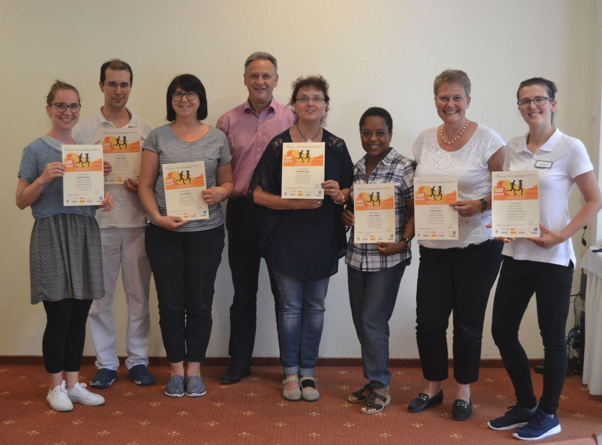 Residenz Humboldthöhe ehrt die Teilnehmer des Firmenlauf